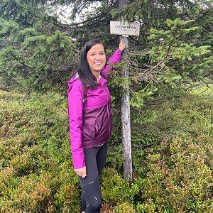 Karolina P na vrcholu Černá hora (5.9.2020 15:05)