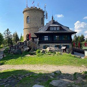 Martin Malý na vrcholu Kleť (7.6.2021 16:50)