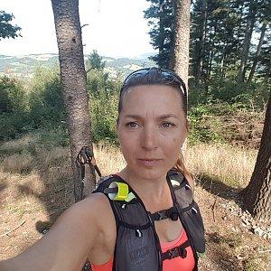 Marcela Kubíčková na vrcholu Na Stašku (22.8.2021 10:00)