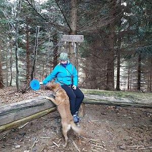 Veronika Chmielová na vrcholu Tribulka (2.1.2021 15:01)