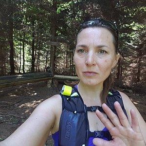 Marcela Kubíčková na vrcholu Tribulka (11.6.2021 11:50)
