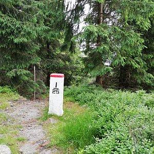 Jana F na vrcholu Krkavice / Kyrkawica (1.7.2021 7:14)