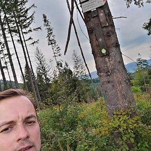 Jan Zamarski na vrcholu Malý Stožek / Stożek Mały (7.9.2021 11:11)