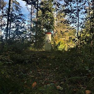 Jiřka Niedobová na vrcholu Malý Sošov / Soszów Mały (3.10.2021 12:31)