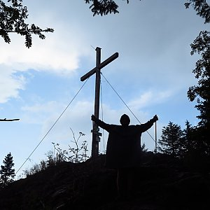 Jarda Vála na vrcholu Kleiner Arber (10.8.2020 15:36)