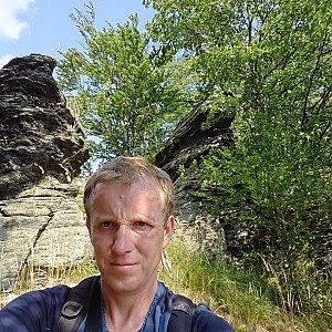 Lukáš Žídek na vrcholu Kočičí skalka (1.9.2019 14:28)