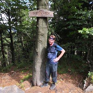 Pavel a Lukáš na vrcholu Burkův vrch / Burkov vrch (19.8.2019 11:17)