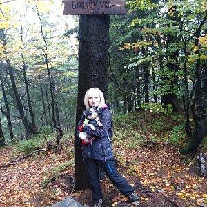 Ilona Mušálková na vrcholu Burkův vrch / Burkov vrch (6.10.2019 15:35)
