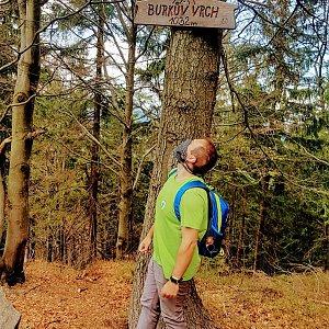 Petr Zajac na vrcholu Burkův vrch / Burkov vrch (2.5.2020 13:24)