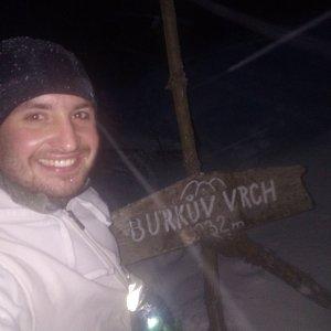Bartek_na_cestach na vrcholu Burkův vrch / Burkov vrch (13.1.2021 16:45)