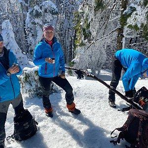 Martaska na vrcholu Burkův vrch / Burkov vrch (20.2.2021 12:05)