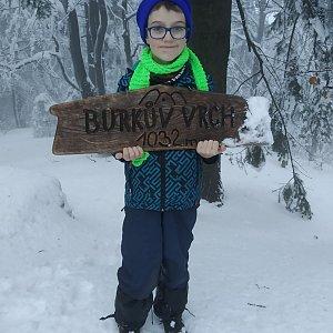 Maty na vrcholu Burkův vrch / Burkov vrch (19.2.2021 16:35)