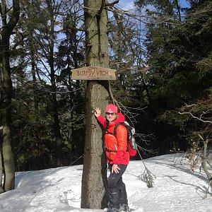 dana na vrcholu Burkův vrch / Burkov vrch (17.3.2019 11:11)