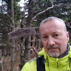 Merkys na vrcholu Burkův vrch / Burkov vrch (8.5.2021 12:15)