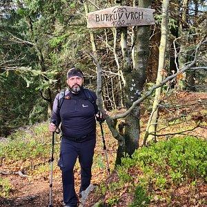 Jiří Gryz na vrcholu Burkův vrch / Burkov vrch (22.5.2021 16:25)