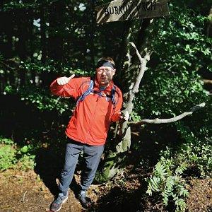 Lukáš Rambousek na vrcholu Burkův vrch / Burkov vrch (29.8.2021 13:11)