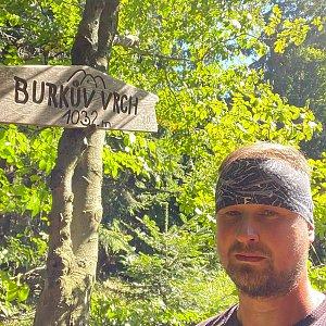 Igor Gluza na vrcholu Burkův vrch / Burkov vrch (9.9.2021 12:30)
