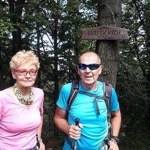MUDr.Svatopluk Kunčar na vrcholu Burkův vrch (9.8.2019 11:07)
