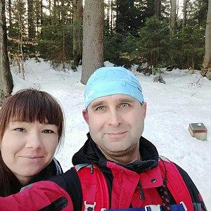 Brůča&Bubu na vrcholu Burkův vrch (10.3.2018)