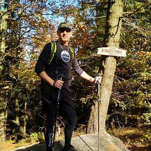 Aleš Sýkora na vrcholu Burkův vrch (13.10.2019 11:28)