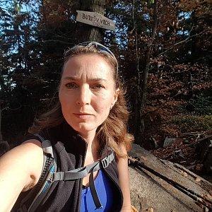 Marcela Kubíčková na vrcholu Burkův vrch (19.10.2019 10:06)