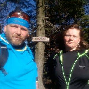 Martin a Jana Halamíčkovi na vrcholu Burkův vrch (27.10.2019 11:29)