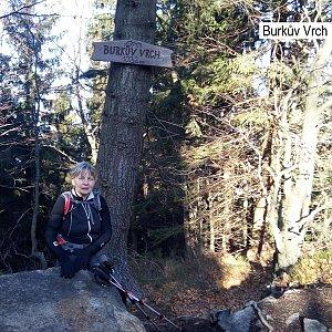 Hanka na vrcholu Burkův vrch (24.11.2019 13:02)