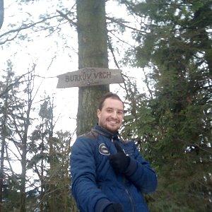 Bartek_na_cestach na vrcholu Burkův vrch (16.1.2020 10:12)