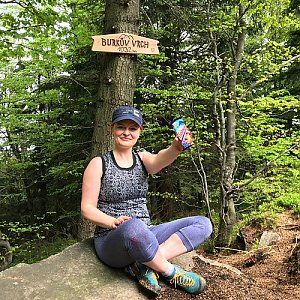 Hanka na vrcholu Burkův vrch (12.5.2018)