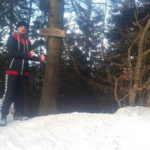 Jan Zamarski na vrcholu Burkův vrch (26.1.2020 13:21)