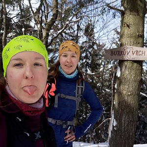 Hanka Ličková na vrcholu Burkův vrch (22.2.2020 13:41)