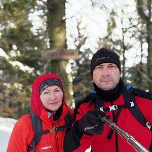 Dana + jirka na vrcholu Burkův vrch (22.2.2020 15:07)