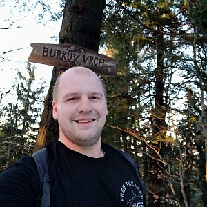 Petr Petrik na vrcholu Burkův vrch (2.3.2020 17:07)