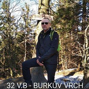 Aleš Sýkora na vrcholu Burkův vrch (15.3.2020 14:08)
