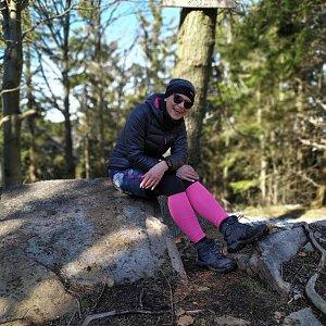 Pavlína Sýkorová na vrcholu Burkův vrch (15.3.2020 14:09)