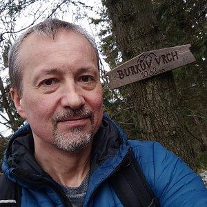 Merkys na vrcholu Burkův vrch (3.4.2020 15:39)
