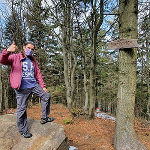 Luke na vrcholu Burkův vrch (4.4.2020 11:03)