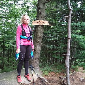 Katka na vrcholu Burkův vrch (1.7.2018 14:15)