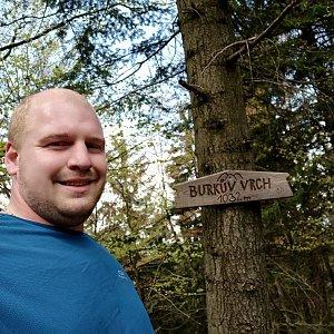 Petr Petrik na vrcholu Burkův vrch (20.5.2020 16:45)