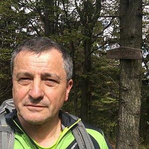 Jarek na vrcholu Burkův vrch (21.5.2020 10:15)