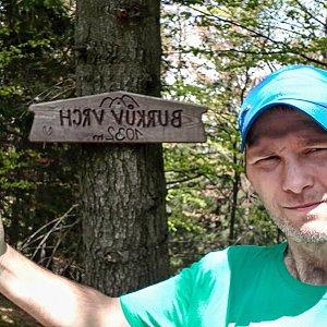 David Dudzik na vrcholu Burkův vrch (4.6.2020 12:35)