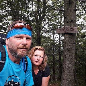 Martin a Jana Halamíčkovi na vrcholu Burkův vrch (29.8.2020 13:12)