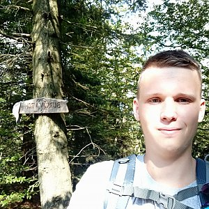 Michal Dimun na vrcholu Burkův vrch (12.9.2020 13:52)