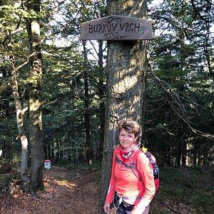Radka Dubská na vrcholu Burkův vrch (12.9.2020 9:07)