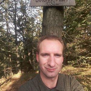 Eduard Ham na vrcholu Burkův vrch (21.10.2020 9:00)