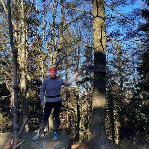 Nikalasova na vrcholu Burkův vrch (8.11.2020 12:33)