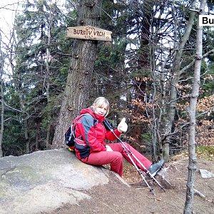 Hanka na vrcholu Burkův vrch (18.11.2018 13:11)