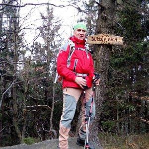 Čestmír Kubíček na vrcholu Burkův vrch (18.11.2018 13:12)