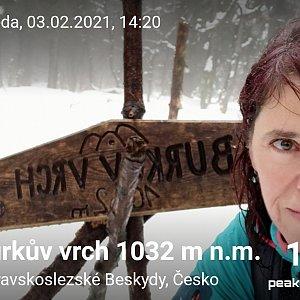 Priserka-xxl na vrcholu Burkův vrch (3.2.2021 14:20)