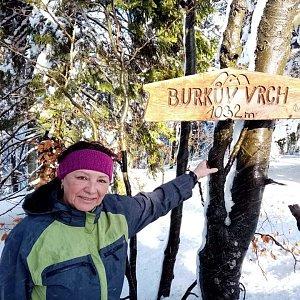 Nuny na vrcholu Burkův vrch (20.2.2021 18:26)